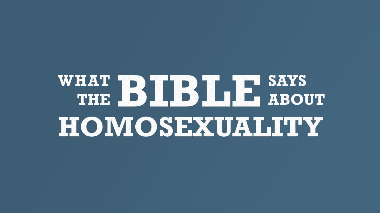 Sermon on homosexuality